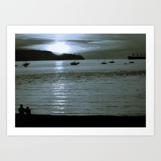watching the sun set Art Print