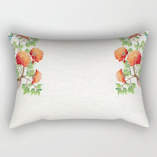 deer flowers Rectangular Pillow