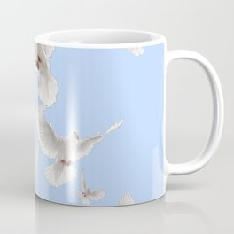 WHITE PEACE DOVES IN SKY BLUE COLOR Coffee Mug