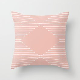 Geo / Blush Throw Pillow