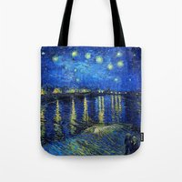 van Tote Bags featuring Van Gogh by Palazzo Art Gallery