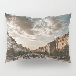 Wenceslas Square in Prague (Czech Republic) Pillow Sham
