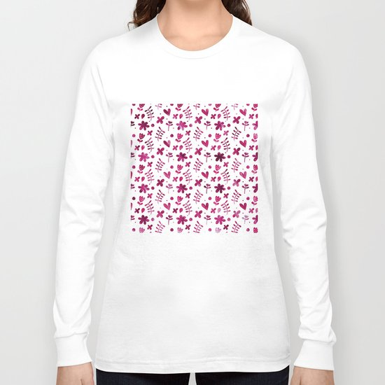 Colorful Lovely Pattern IV Long Sleeve T-shirt