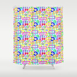 Rectangles and Elipses in Color (2018) Shower Curtain