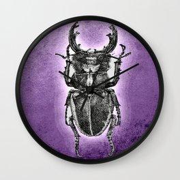 Purple stag beetle Wall Clock