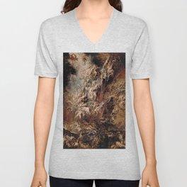 Peter Paul Rubens's The Fall of the Damned Unisex V-Neck