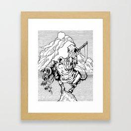 The Goat Reaper Rides Framed Art Print
