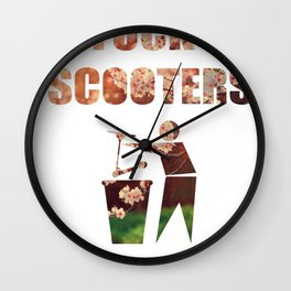 Fcuk Scooters Wall Clock
