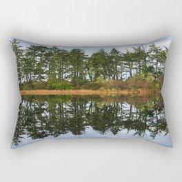 Coastal Lake Reflection Rectangular Pillow