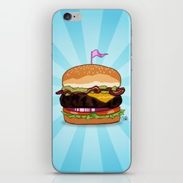 Bacon Cheeseburger Tummy iPhone Skin
