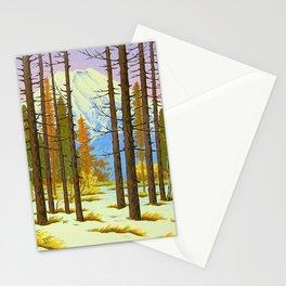 Henmi Takashi Mt. Fuji from Yamanaka Japanese Woodblock Print Vintage Historical Japanese Art Stationery Cards