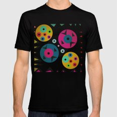 mixed shapes Black MEDIUM Mens Fitted Tee