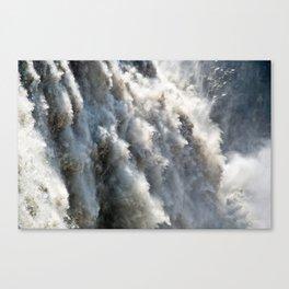 Crushing Down Canvas Print