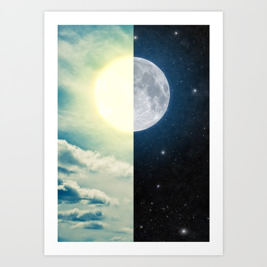 As each day ends... Art Print