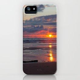 piece of wood on the atlantic ocean iPhone Case