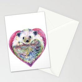 HedgeHog Heart by Michelle Scott of dotsofpaint studios Stationery Cards