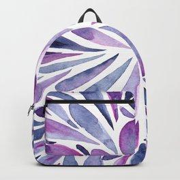 Symmetrical drops - purple and indigo Backpack