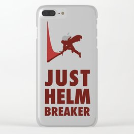 JUST HELM BREAKER RED Clear iPhone Case