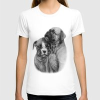 puppies T-shirts featuring Boxer Puppies by Danguole Serstinskaja