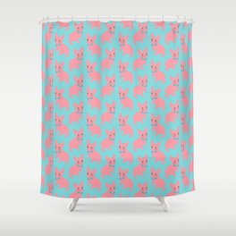 Pink Frenchie - What's Up? Shower Curtain