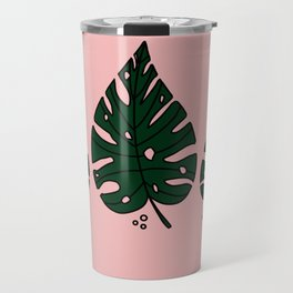 Peach Monstera Travel Mug