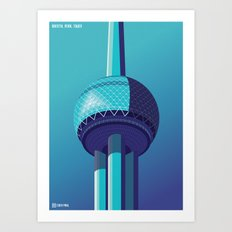 Observation Towers - Shanghai Art Print