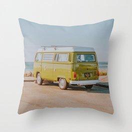 van life iii / cayucos, california Throw Pillow