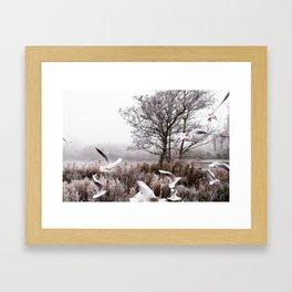 So cold Framed Art Print
