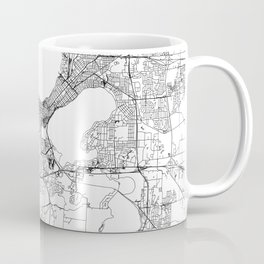 Madison White Map Coffee Mug