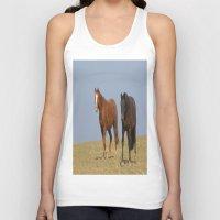 horses Tank Tops featuring horses by Laake-Photos