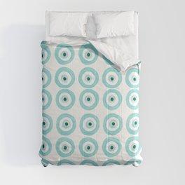 Baby Blue Evil Eye Comforters
