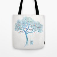 serenity Tote Bags featuring The Start of Something by David Fleck
