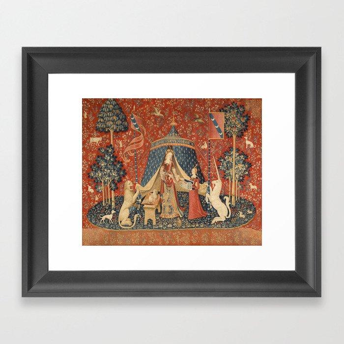 The Lady And The Unicorn Gerahmter Kunstdruck