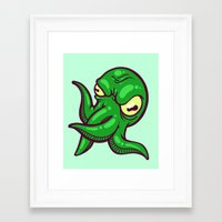 cthulhu Framed Art Prints featuring Cthulhu by Artistic Dyslexia
