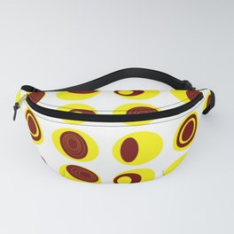 Conacas yellow on white Fanny Pack