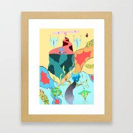 Girl in the sky Framed Art Print