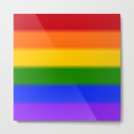 Rainbow Gay Pride Flag Metal Print