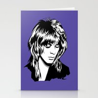 randy c Stationery Cards featuring Randy Rhoads by Laura Meg