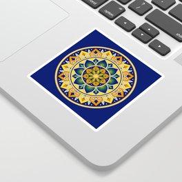 Italian Tile Pattern – Peacock motifs majolica from Deruta Sticker