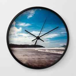 Bronze sand at Ohope Beach Wall Clock