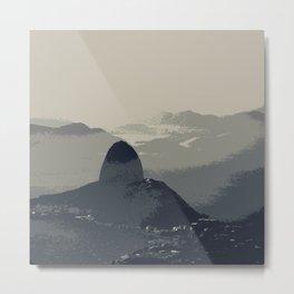Grey Sugarloaf Mountain Metal Print