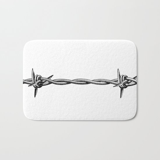 Barbed wire Bath Mat