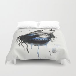 Moon Wolf Duvet Cover