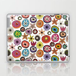 summer flowers multi white Laptop & iPad Skin