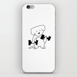 gym dog iPhone Skin
