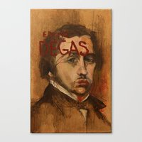 degas Canvas Prints featuring 50 Artists: Edgar Degas by Chad Beroth