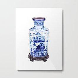 CHINOISERIE VASE Metal Print