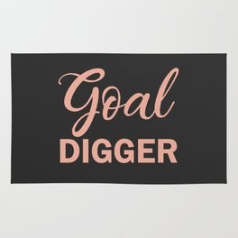 Goal Digger Rosegold Charcoal Rug