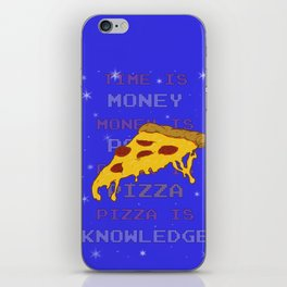 PizzaIsKnowledge iPhone Skin
