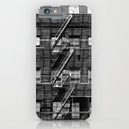Fire escapes at noon iPhone Case
